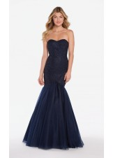 Alyce 60159 Sparkle Top Mermaid with Tulle Skirt