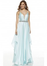 Alyce 60641 Chiffon Dress with Long Layered Skirt
