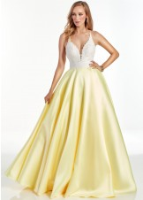 Alyce 60879 Diamond White & Yellow Ball Gown