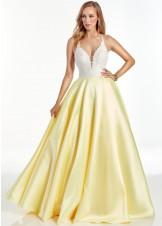 Alyce 60879 Diamond White & Yellow Ball Gown