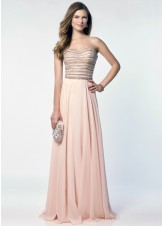 Alyce 6690 Beaded Strapless Long Chiffon Dress