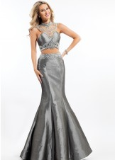 Rachel Allan 7145 Jeweled Two Piece Taffeta Gown