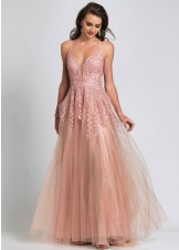 Dave and Johnny A8507 Rose Pink Prom Dress