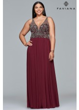 Faviana 9424 Illusion Strap A-line Dress