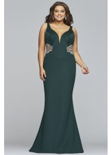 Faviana 9448 Elegant Fitted Gown with Sheer Sides