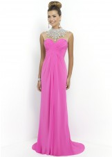 Blush 9952 Jeweled Necklace Chiffon Gown