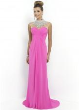 Blush 9952 Jeweked Necklace Chiffon Gown