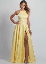 Dave and Johnny A9195 Satin A-Line Prom Dress