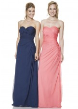 Bari Jay 1530 Ruched Evening Gown