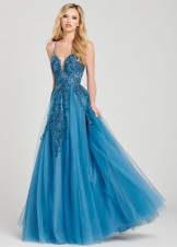 Colette CL12042 Wedgewood Blue Prom Dress