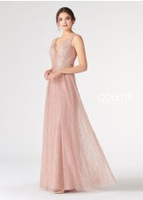Colette CL19852 Cracked Ice Tulle Sparkle Gown