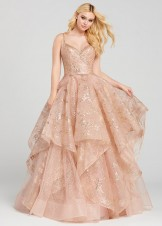 Ellie Wilde EW120005 Rose Gold Glitter Ball Gown