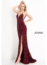 JVN by Jovani JVN00864 Embellished Lace Prom Dress