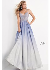 JVN by Jovani JVN04565 Ombre Glitter A-Line Prom Dress