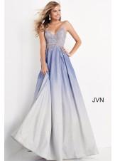 JVN by Jovani JVN04565 Ombre Glitter A-Line Prom Dress