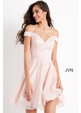 JVN by Jovani JVN04639 Glitter Off the Shoulder Dress