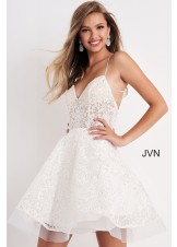 JVN by Jovani JVN04709 Short Fit and Flare Dress