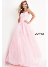 JVN by Jovani JVN1831 Strapless Embroidered Ballgown