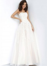JVN by Jovani JVN1831 Off-White Strapless Ball