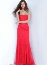 JVN by Jovani JVN3097 Strapless Lace Dress