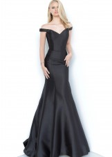 JVN by Jovani JVN3245 Black Off the Shoulder Mermaid Gown