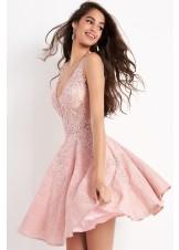 JVN by Jovani JVN45264 Lace A-Line Cocktail Dress