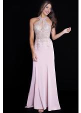 JVN by Jovani JVN51320 Shiny Embellished Sheath Gown in Jersey