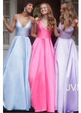 JVN by Jovani JVN66673 Satin A-Line Prom Dress