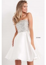 Jovani K00722 Fit and Flare Strapless Girls Dress