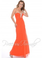 Precious Formals P21011 Strapless Illusion Dress