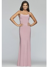Faviana S10205 Jersey Gown with Lace-Up Back