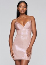 Faviana S10350 Short Metallic Jersey Dress