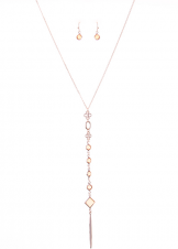 Peach Urban Lightweight Y Long Necklace