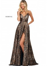 Sherri Hill 53772 Animal Print A-Line Satin Gown
