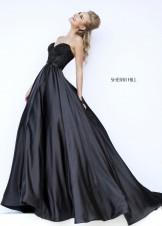 Sherri Hill 32084 Strapless Beaded Satin Evening Gown