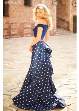 Sherri Hill 51865 Two Piece Polka Dot Dress