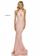 Sherri Hill 52784 Sleek Body Hugging Halter Gown