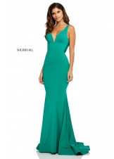 Sherri Hill 52790 Draped Back Jersey Gown
