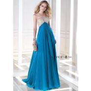 Alyce B'Dazzle 35695 Iridescent Chiffon Halter Gown