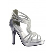 Tuesday by Touch Ups Silver Glitter Heels