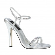 Tahiti by Johnathan Kayne Silver AB Crystal Shoes