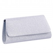 Silver Glitter Clutch - Alex by Touch Ups