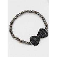 Crystal Bow Stretch Bracelet