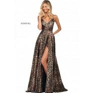 Sherri Hill 53772 Animal Print A-Line Satin Gown