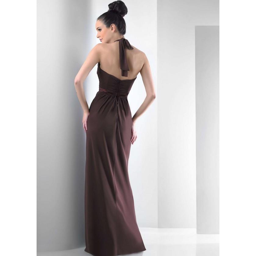 Brown Bari Jay 104 / 2013 Chiffon Halter Dress for $200.00