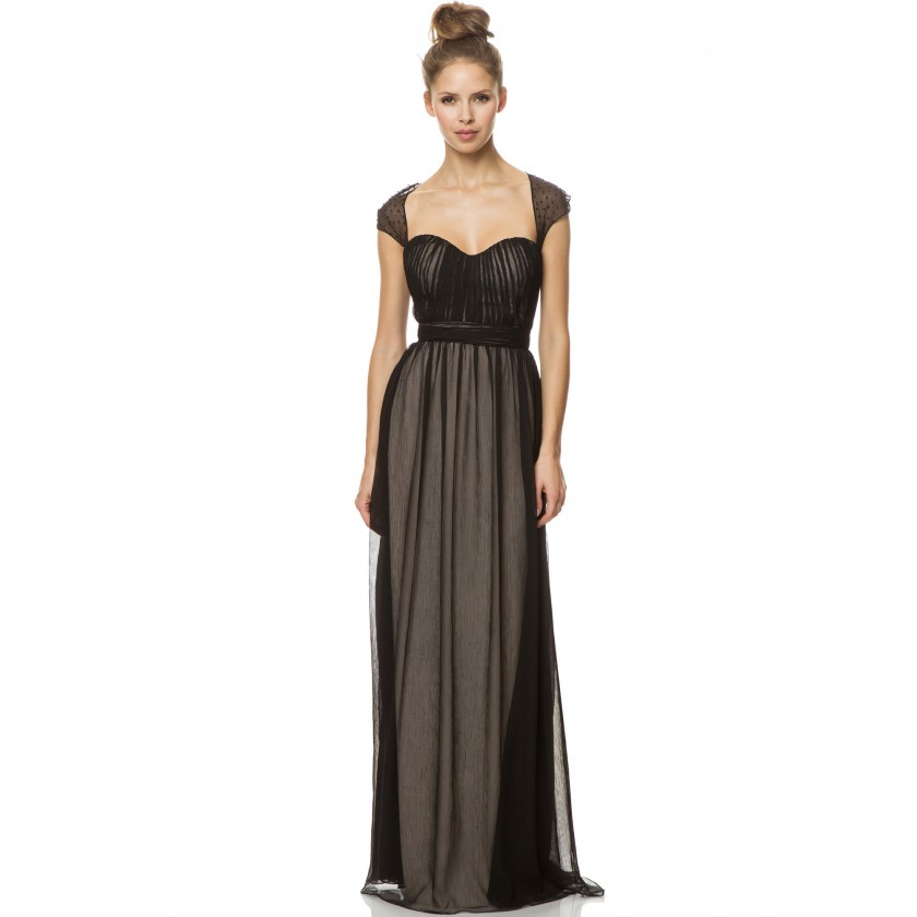 Black, Nude Bari Jay 1454 Illusion Evening Gown for $230.00