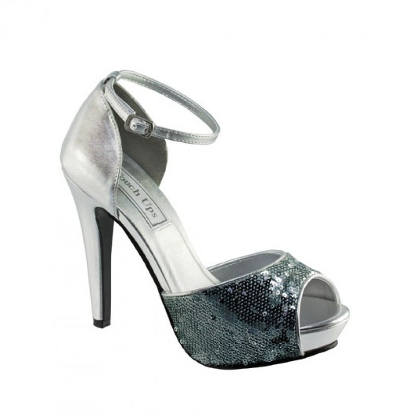 Silver Debbie by Touch Ups Sequin Party Shoes for $66.00