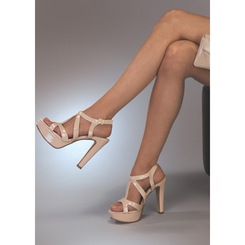 Nude Queenie by Touch Ups Platform Sandal for $58.00