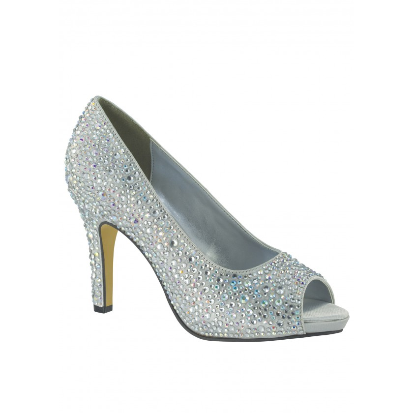 Silver Eliza by Touch Ups Silver Beaded Platform Pumps for $134.00
