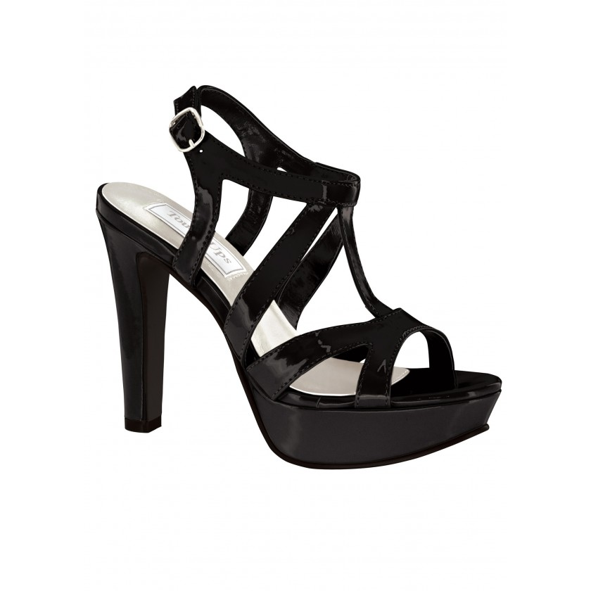 Black Queenie by Touch Ups Sassy Strappy Sandal for $58.00